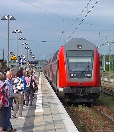 Anreise mit der Eisenbahn