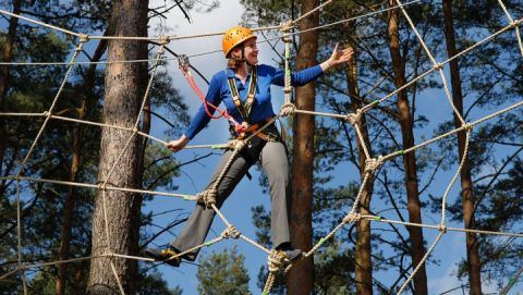 Waldseilgarten: Camping- und Ferienpark Havelberge