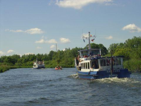 Unsere Schiffe auf der Peene-dem Amazonas des Nordens