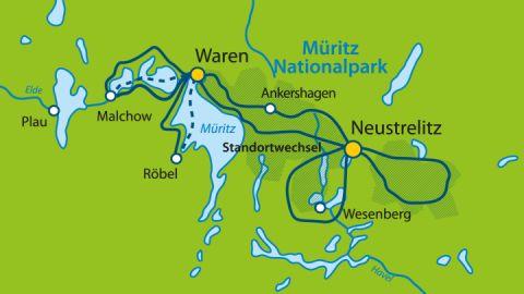 Sterntouren Waren/ Mecklenburger Seenplatte