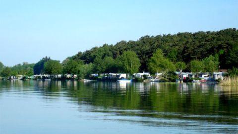 Inselcamping Werder Seeansicht
