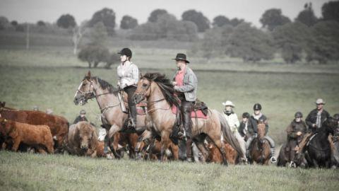 Wie die Cowboys im Wilden Westen unterwegs sein- auf dem FerienGut Dalwitz.