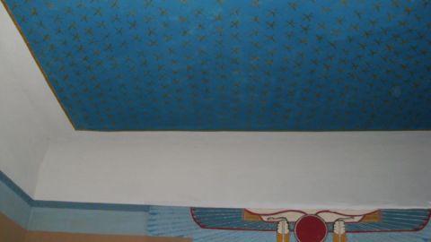 Wand- und Deckenmalerei des Ägyptischen Saals im Gutshaus Bobbin