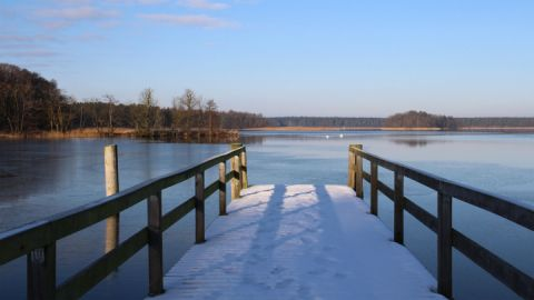 Rheinsberger Seenkette im Winter