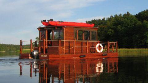 Floßtour in der Mecklenburgischen Kleinseenpallte