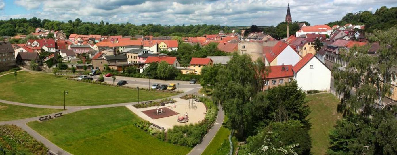 Stadtpanorama Burg Stargard