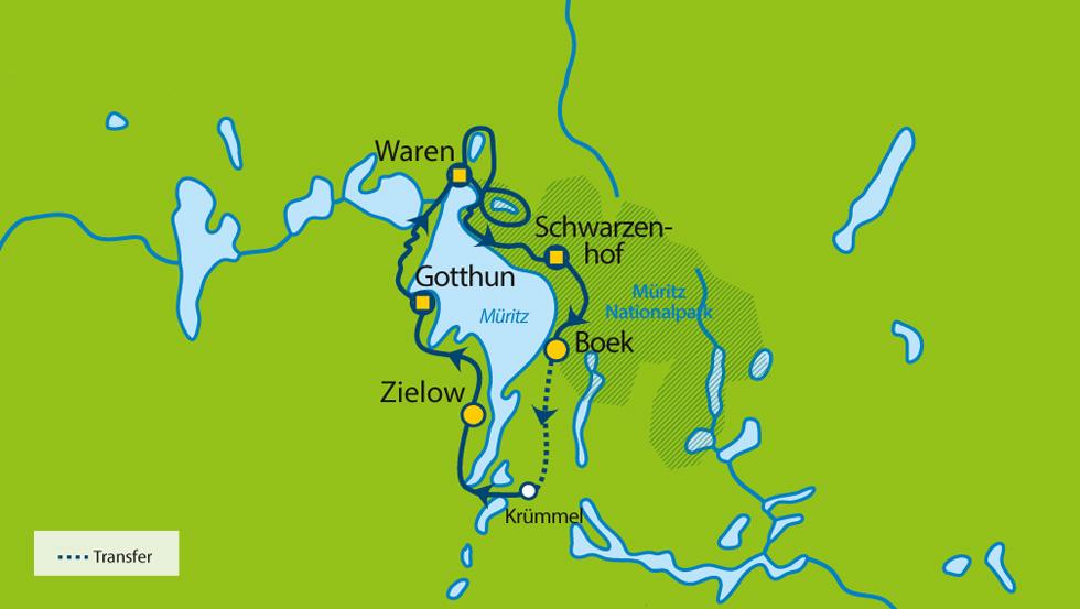Mecklenburgische Seenplatte Karte Pdf.Wandern Im Muritz Nationalpark 8 Tage