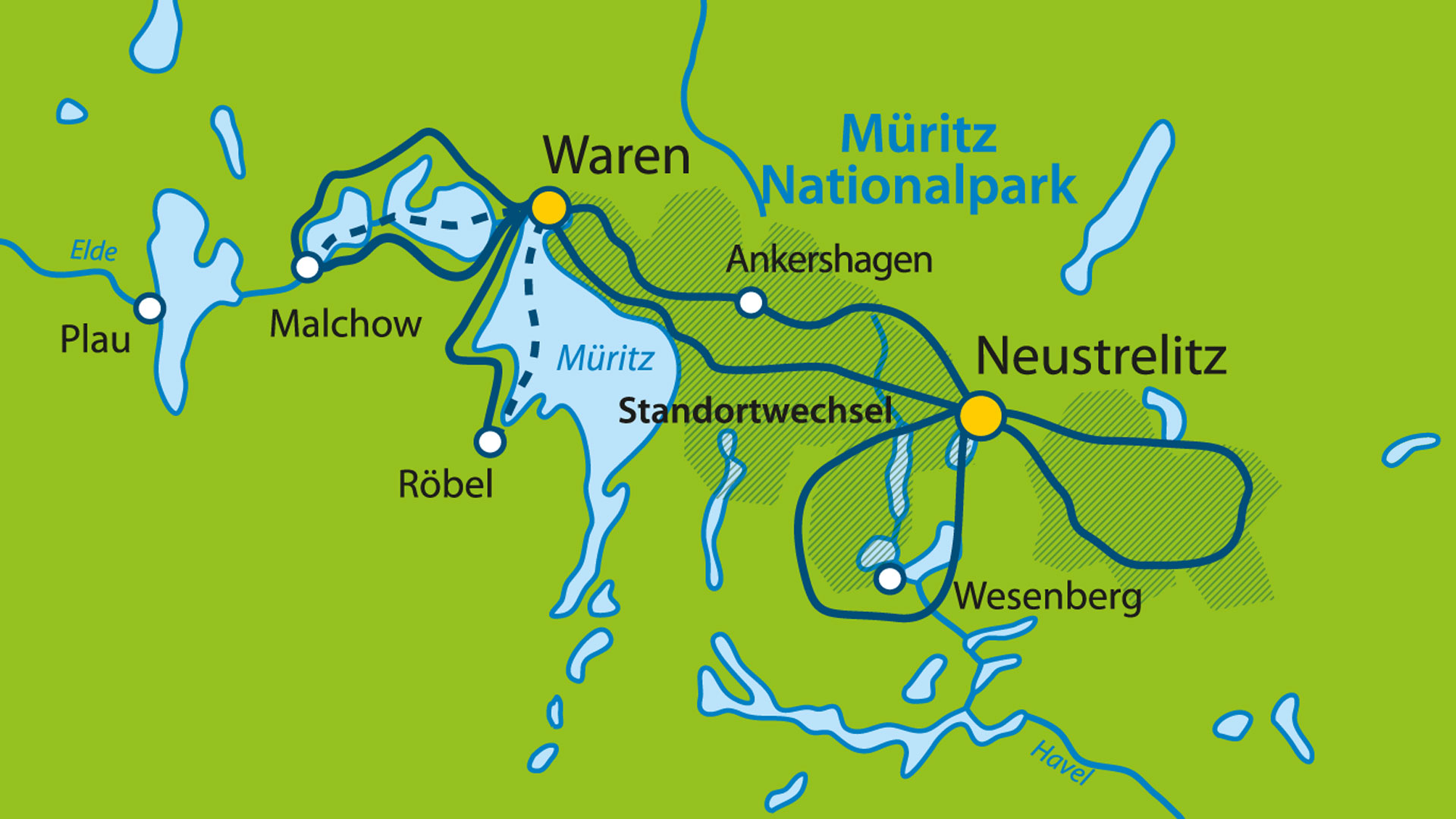 Sterntouren Mecklenburger Seenplatte 8 Tage Mecklenburgische