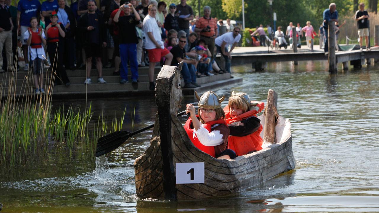 Pappboot-Regatta Rheinsberg, Mecklenburgische Seenplatte