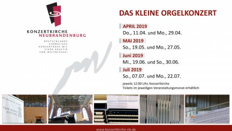 Das kleine Orgelkonzert 2019
