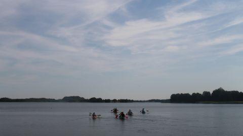 Paddeln auf dem Krakower See