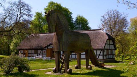 Das Heinrich-Schliemann-Museum im Elterhaus des Unternehmers und Archäologen in Ankershagen