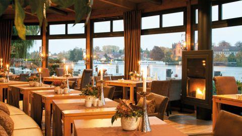 Restaurant mit Seeblick: Die Terrasse des Rosendomizils.