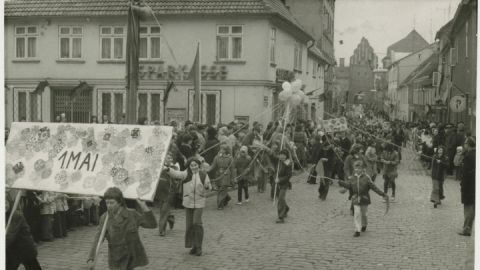 1. Mai-Demonstration in Teterow um 1975