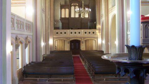 Innenansicht auf die Orgel