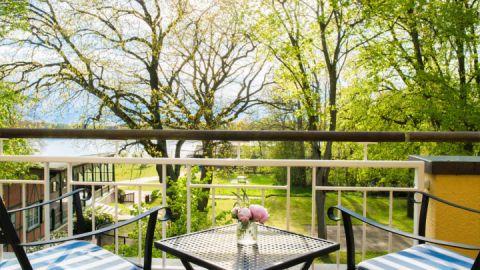 Ausblick aus dem Zimmer des Hotels Kurhaus am Inselsee