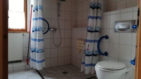 WC und Dusche verfügen über Haltegriffe