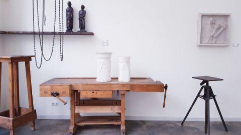Blick in die Dauerausstellung des Atelierhauses