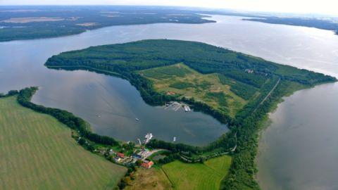 Luftbild- Fischerei und Räucherei Alt-Schwerin