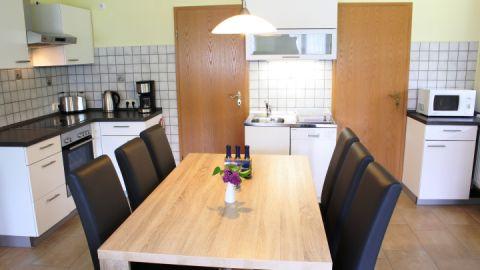 Die Küche in der Ferienwohnung 2