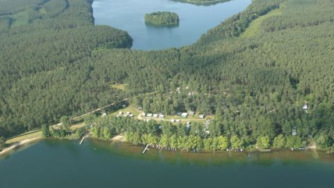 Luftaufnahme vom Campingplatz