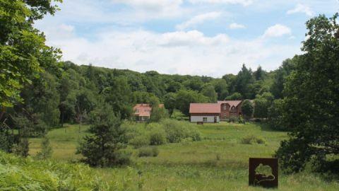 Blick auf die Nationalpark-Information Serrahn