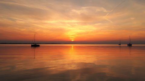 Sonnenuntergang auf der Müritz