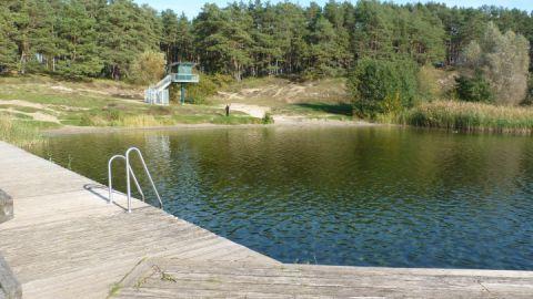 Badestelle Feisneck von der Brücke
