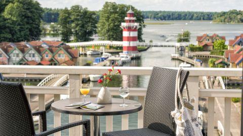 Balkon Comfort-Doppelzimmer Maritim Hafenhotel Rheinsberg