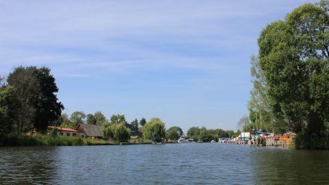 Blick vom Kummerower See in die Peene