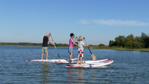 Stand Up Paddling am Fleesensee