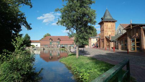 Mühlenviertel mit Spritzenhaus und Stadtmühle