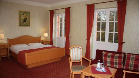 Doppelzimmer mit Blick zum Müritz-Nationalpark