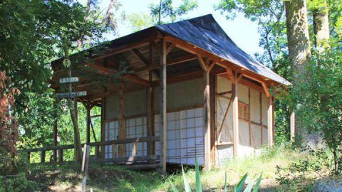 Bambus-Teehaus beim Schloss Mitsuko in Todendorf
