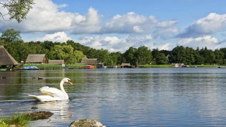 Krakower See mit Bootshäuser