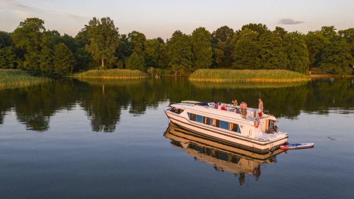 Mitten auf dem See können Sie die Idylle Mecklenburgs in vollen Zügen genießen.