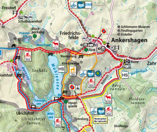 Mecklenburgische Seenplatte Karte Pdf.Wandern Urlaub An Der Mecklenburgische Seenplatte