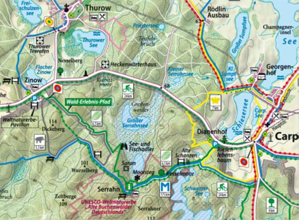 Karte Seen Mecklenburgische Seenplatte.Wandern Urlaub An Der Mecklenburgische Seenplatte